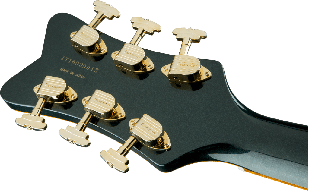 Gretsch Penguin Cadillac Green Metallic Headstock Back Close Up