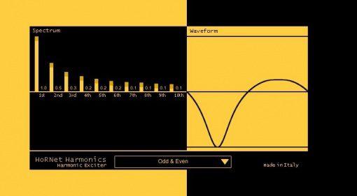 HoRNet Harmonics Plug-in Wave Shaper Exciter GUI