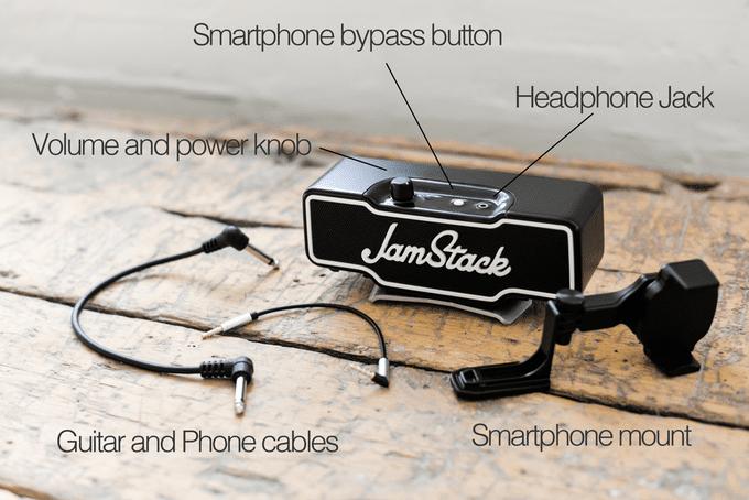 Jamstick Clip On Amp Verstaerker Kickstarter Funktionen