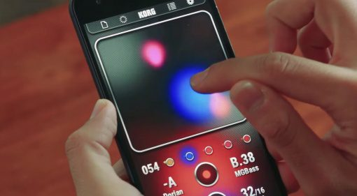 Korg Kaossilator App Android Smartphone Benutzung Finger Rouch Synthesizer