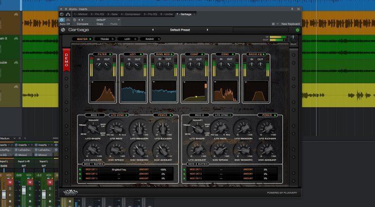 Nomad Factory Garbage LSD Plug-in Effekt GUI Main Studio One