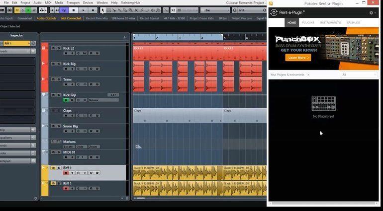 Pakotec Rent A Plug-in Cubase GUI Demo Video Screenshot