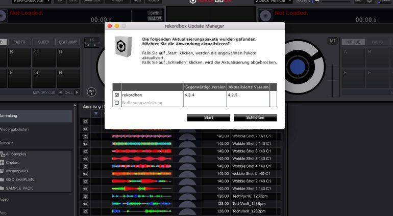 Pioneer rekordbox dj 4.2.5 Update