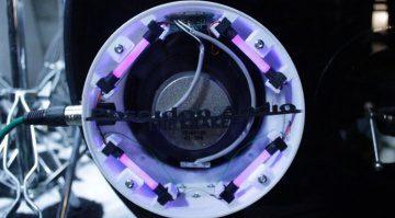 Poseidon Audio The Kraken KR2 SubKick Microphone Mikrofon Weiß LED Front Bassdrum
