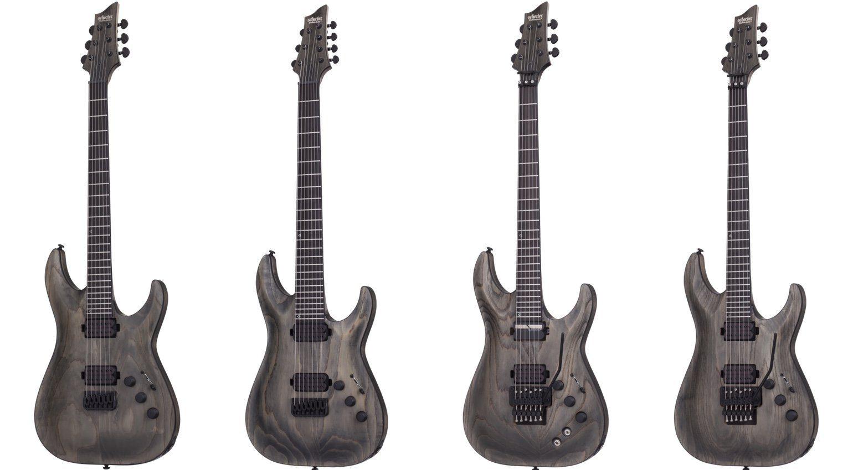 Schecter Apocalypse Grey Grau 2017 Gitarren Line Up Front