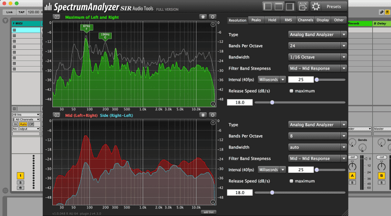 SIR Audio Tools SpectrumAnalyzer - kostenloses Messinstrument für jede DAW