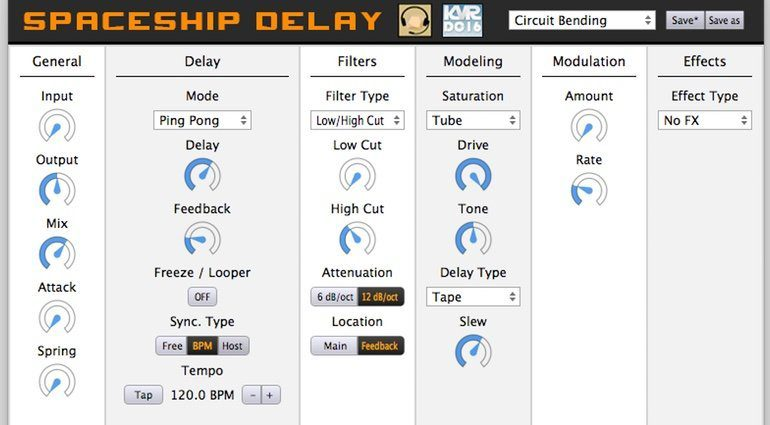 Spaceship Delay Plug-in KVR Developer Challenge 2016 GUI Reaper