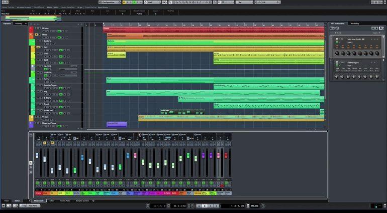 Steinberg Cubase 9 Editor Mixer Zones Concept GUI