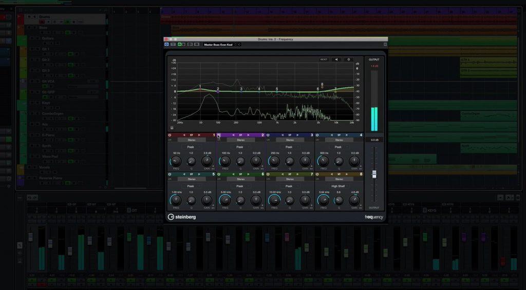Steinberg Cubase Pro 9 Frequency Plug-in EQ GUI