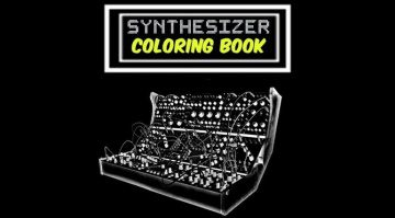 Synthesizer Coloring Book Front Teaser