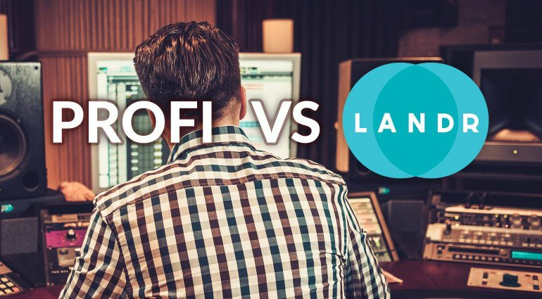 Profi vs LANDR Video Mastering Vergleich
