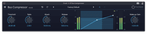 Tracktion Plug-in Effekt Bus Compressor GUI