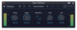 Tracktion Plug-in Effekt Chrous GUI