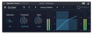 Tracktion Plug-in Effekt Ducker GUI