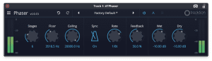 Tracktion Plug-in Effekt Phaser GUI