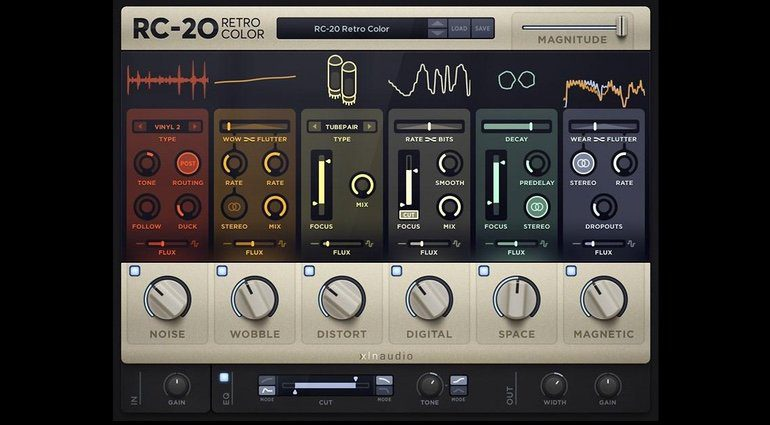 XLN Audio RC-20 Retro Color Plug-in GUI komplett