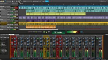 Acoustica Mixcraft 8 DAW GUI Editor MIxer