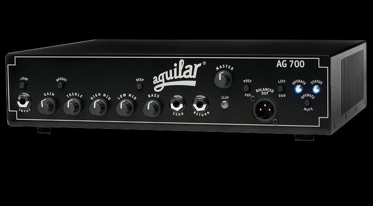 Aguilar AG700 Topteil Amp Bass Front