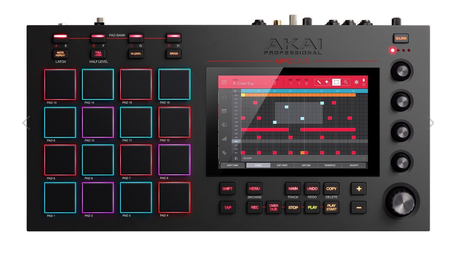 Akai Professional MPC Live Standalone Sampler HiRes Top View