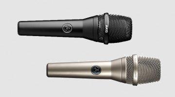 AKG C636 Kondensator Mikrofon Schwarz Nickel Front Titel