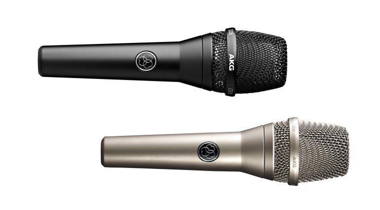 AKG C636 Kondensator Mikrofon Schwarz Nickel Front