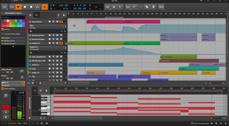 Bitwig Studio 2 Editor GUI