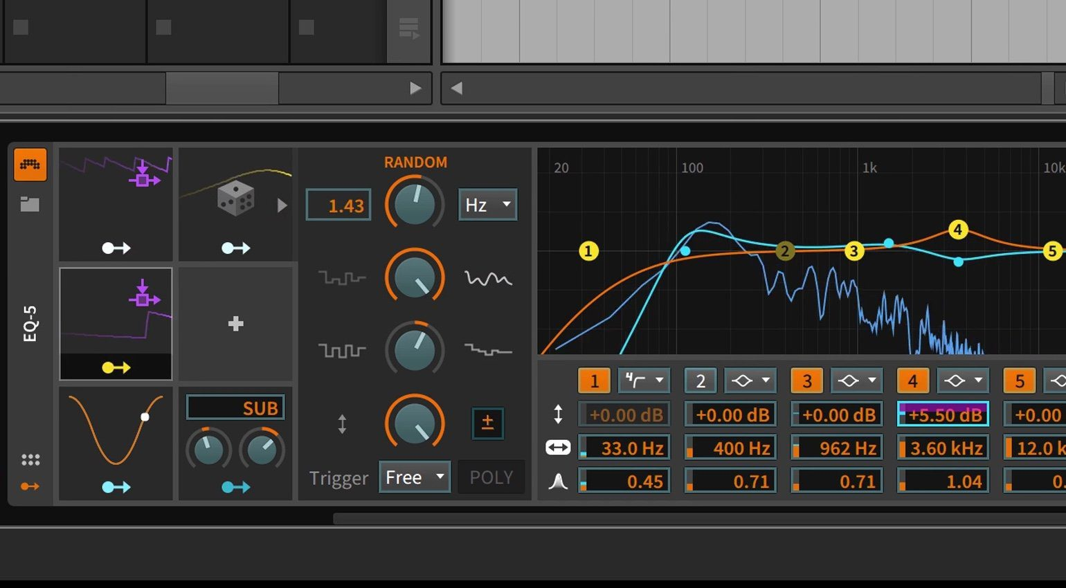 Bitwig Studio 2 Modulators GUI