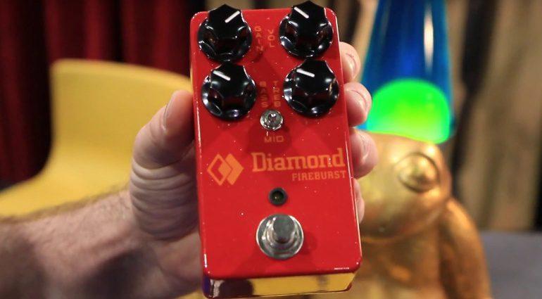 Diamond Fireburst Mini Fuzz Pedal Front