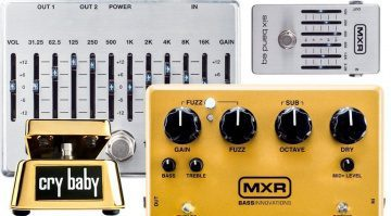 Dunlop Gold Cry Baby MXR EQ Sub Octave Fuzz Pedal Effekte Front