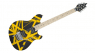 EVH Wolfgang Special Striped Black and Yellow Front