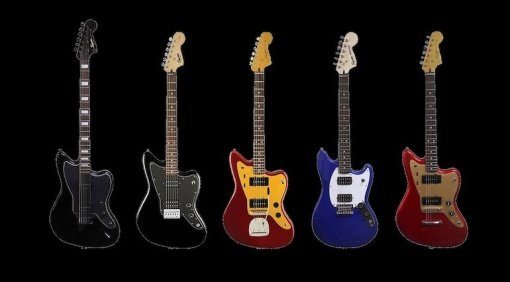 Fender Squier Offset 2017 Lineup Collection Jazzmaster Jaguar Mustang Bariton Front Titel