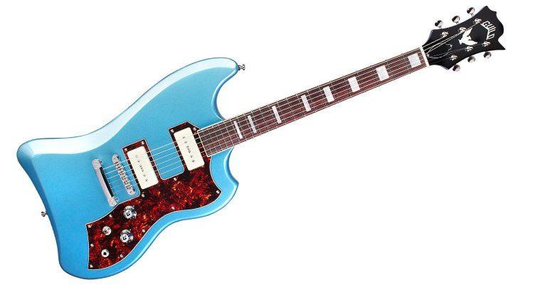 Guild S-200 T-Bird ST P90 Pelham Blue E-Gitarre Front