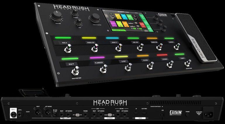 Headrush Electronics Mutli Effekt Pedalboard Front Back Rueckseite