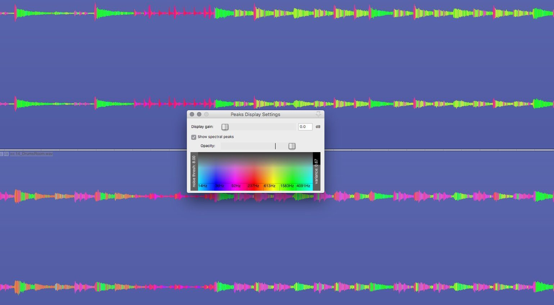 Reaper 5.32 Spectral Peaks 2
