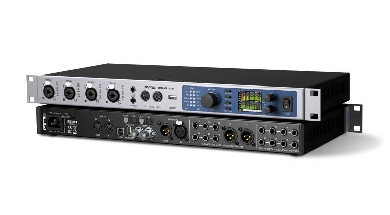 RME Fireface UFX II USB Interface Front Back Promo Pic 2