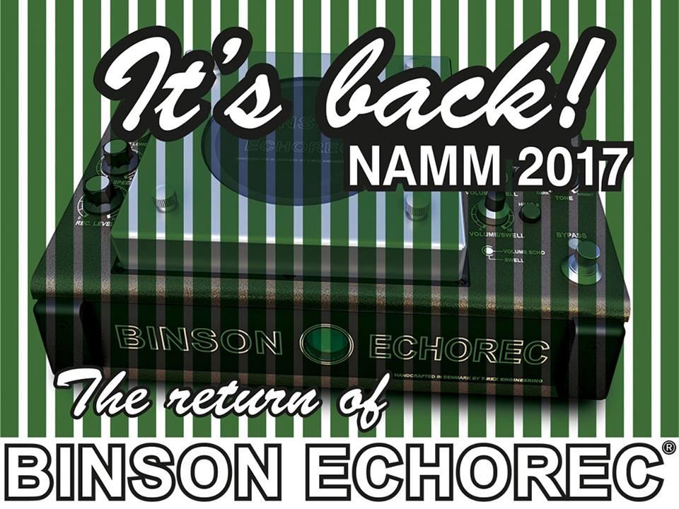T-Rex Binson Echorec NAMM ankuendigung