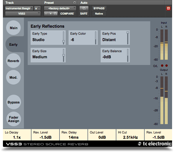 TC Electronic VSS3 Native VST Plug-in Eealy Reflections GUI