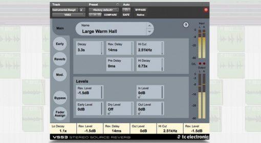 TC Electronic VSS3 Native VST Plug-in GUI Reaper Front Reverb