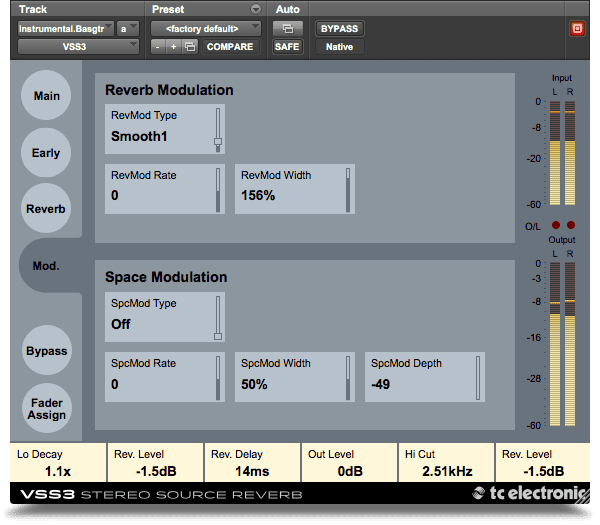 TC Electronic VSS3 Native VST Plug-in Modulation GUI