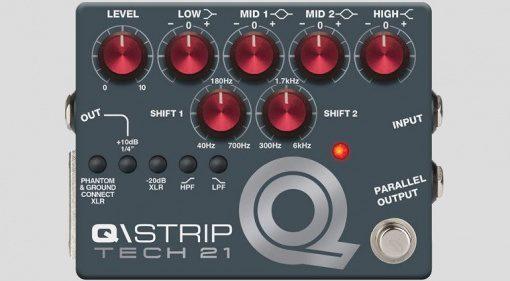 Tech21 QStrip EQ DI Preamp Pedal Front