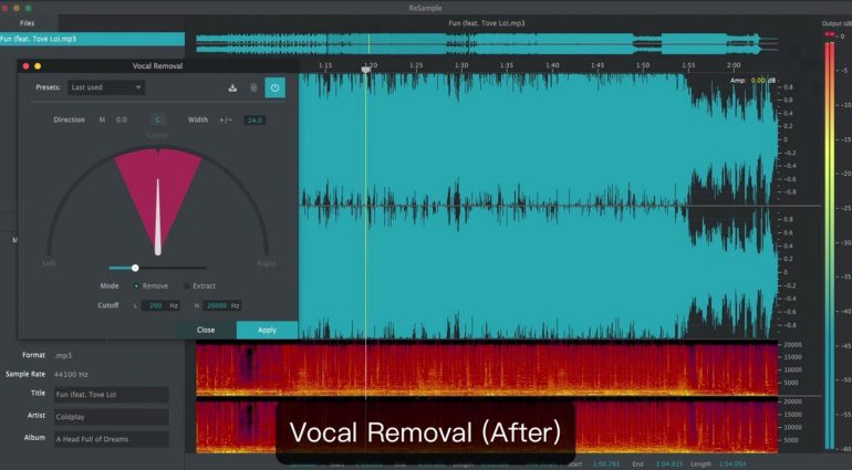 2nd Sense Audio ReSample GUI Vocal Removal