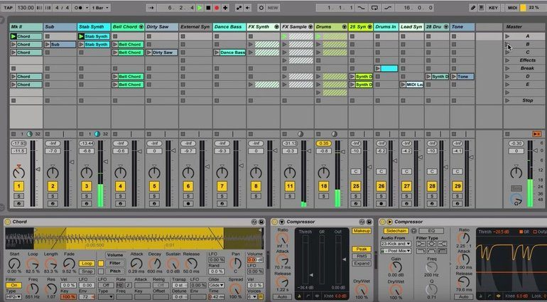 Ableton Live 9 GUI