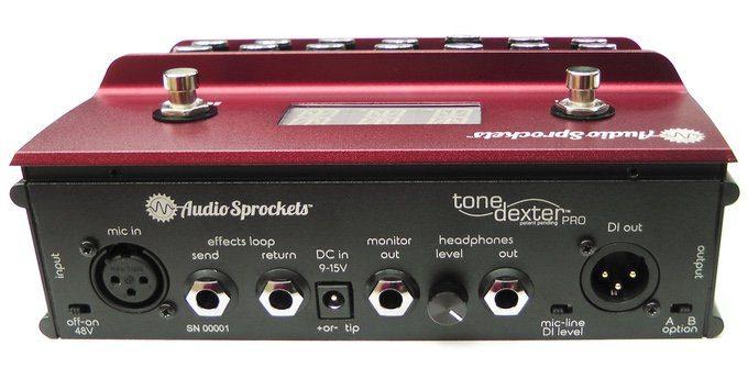 AudioSprockets Tone Dexter Akustik Gitarre Mikro Modelling Preamp Pedal Back