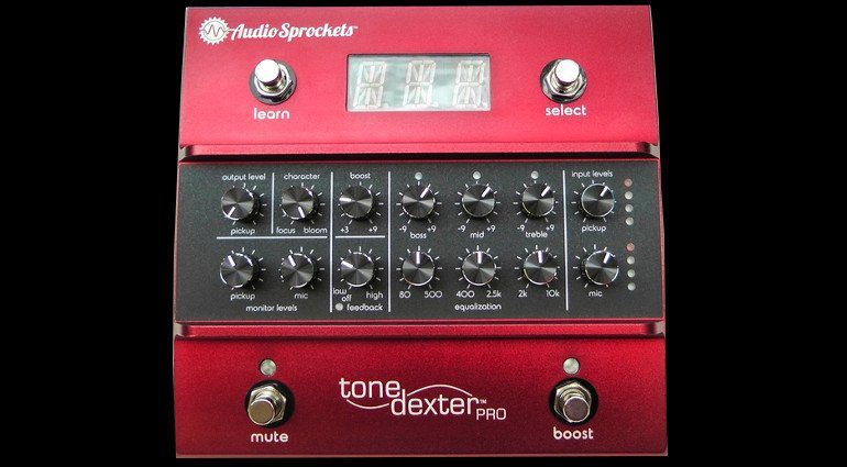 AudioSprockets Tone Dexter Akustik Gitarre Mikro Modelling Preamp Pedal Front
