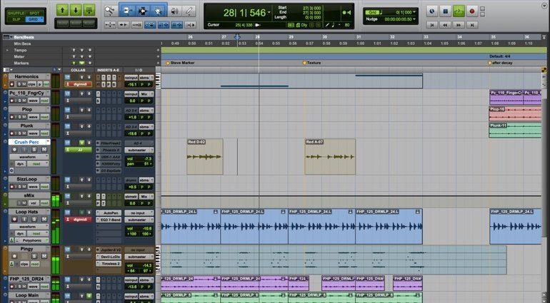 Avid Pro Tools 12 GUI