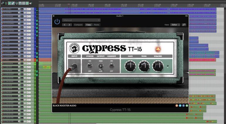 Black Rooster Audio Cypress TT-15 Orange Tiny Terror Amp Simulation Plugin DAW GUI