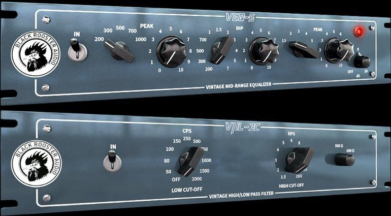 Black Rooster Audio VHL-3C VEQ-5 Passive Equalizer Pultec Plug-in GUI