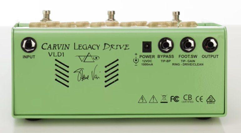 Carvin Legacy Drive Pedal Effekt Back