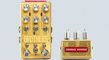 Chase Bliss Audio Brothers Boost Overdrive Fuzz Pedal Front Dip Switch Effekt Titel