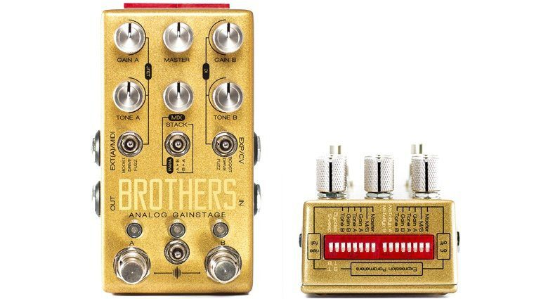 Chase Bliss Audio Brothers Boost Overdrive Fuzz Pedal Front Dip Switch Effekt